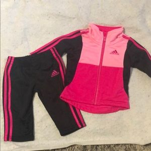 Little Girls Adidas Track Suit size 3 months